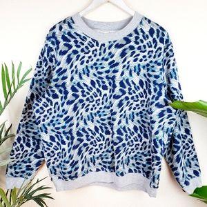 Blair Animal Print Oversized Sweatshirt Pullover